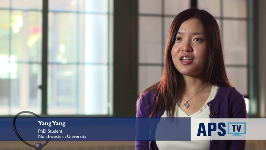 Yang Yang discusses graduate program